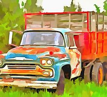 Old Chevrolet Viking Work Truck  by LianeWright