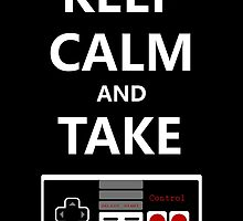 Keep Calm and Take Control - STICKER by Brit Eddy