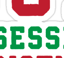 OCD Obsessive Christmas Disorder, Red and Green Ink | Women's Christmas Sweater, Ugly Christmas Sweater, Christmas Gift, Obsessive Compulsive Sticker