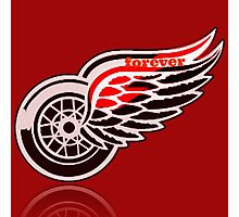 Red Wings forever. Photographic Print
