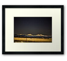 Night Over the Cascades Framed Print