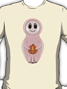 ghost with Halloween pumpkin in style of a nested doll T-Shirt
