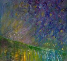 Walking, Seeing Rain Fall by Clare McCarthy