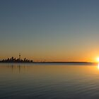 Bright and Early - Toronto Morning with a Terrific Sunrise by Georgia Mizuleva