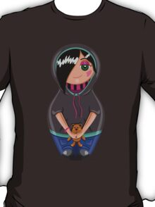Emo teen girl made in the style of Russian dolls T-Shirt