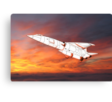 TSR2 - Before It's Time 1950s Canvas Print