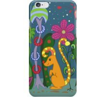 vector fantastic night forest with fabulous animals iPhone Case/Skin