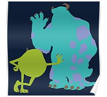 Mike Wazowski and James P. Sullivan (Mike and Sulley) - Monsters Inc Poster