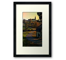 Road up to the hill | landscape photography Framed Print