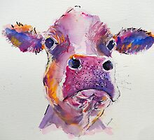 Pink Cow by Louise Fletcher