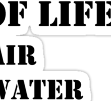 The Necessities Of Life: My Cousins - Black Text Sticker