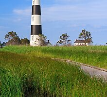 Bodie Island Lighthouse Reflection by Kenneth Keifer