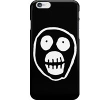 The Mighty Boosh – Big Mask (White) iPhone Case/Skin