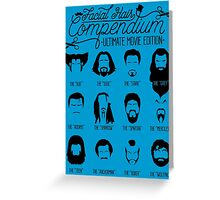 Movie Facial Hair Compendium Greeting Card