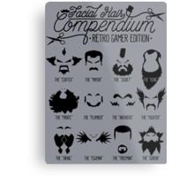 The Gamer Facial Hair Compendium Metal Print