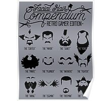 The Gamer Facial Hair Compendium Poster