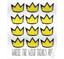 Where the Wild Things Are - Crowns Cutout Poster