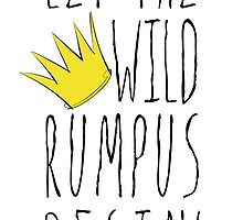 Where the Wild Things Are - Rumpus Begin Crown Sticker by thebremanmuseum
