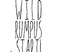 Where the Wild Things Are - Rumpus Start Cutout by thebremanmuseum