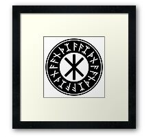Odin's Protection No.1 (black) Framed Print