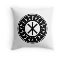 Odin's Protection No.1 (black) Throw Pillow