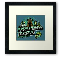 Greetings From Paramonia Temple Framed Print