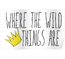 Where the Wild Things Are - Crown Title Cutout Poster