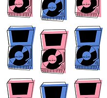 Vintage ROCK and ROLL Record Pattern by G. Allen Black