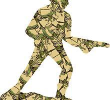 Queenouflage Army Man Original by PhilFryArt