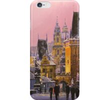Prague Charles Bridge  Winter Evening iPhone Case/Skin