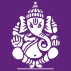 Ganesh Ganesa Ganapati 4 (white) by MysticIsland