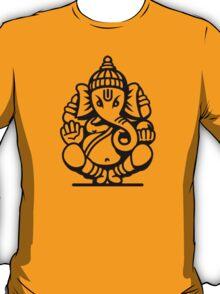Ganesh Ganesa Ganapati 4 (black outline) T-Shirt