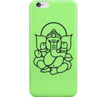 Ganesh Ganesa Ganapati 3 (black outline) iPhone Case/Skin