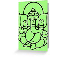 Ganesh Ganesa Ganapati 3 (black outline) Greeting Card