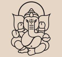 Ganesh Ganesa Ganapati 3 (black outline) by MysticIsland