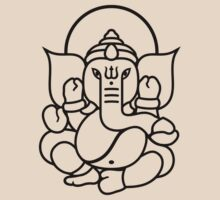 Ganesh Ganesa Ganapati 3 (black outline) T-Shirt