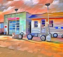 Old Gas Station by LianeWright