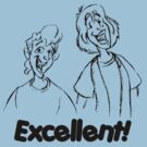 Bill and Ted - Group 04 - Excellent - Black Line Art by DGArt