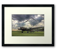 The Prince`s Break - The 3 Lancasters East Kirkby - HDR Framed Print