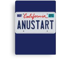 Anustart License Plate Canvas Print
