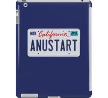 Anustart License Plate iPad Case/Skin