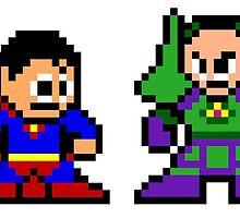 8-bit Superman & Lex Luthor by 8 Bit Hero