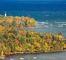 Au Sable Point Lighthouse by Kenneth Keifer