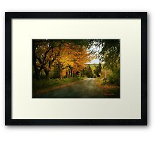 Going Home to the Hills and Valleys Framed Print