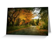 Going Home to the Hills and Valleys Greeting Card