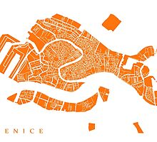 Venice Map (Orange) by CartoCreative