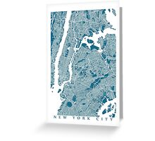 New York City Map Greeting Card