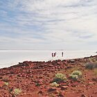 Tourists on Lake Gairdner by Ian Berry