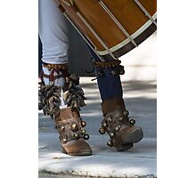 dances and dances with drum and bagpipe Photographic Print