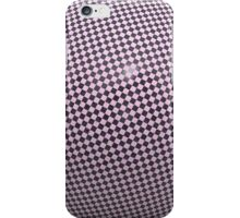 Distorted violet checkered background iPhone Case/Skin
